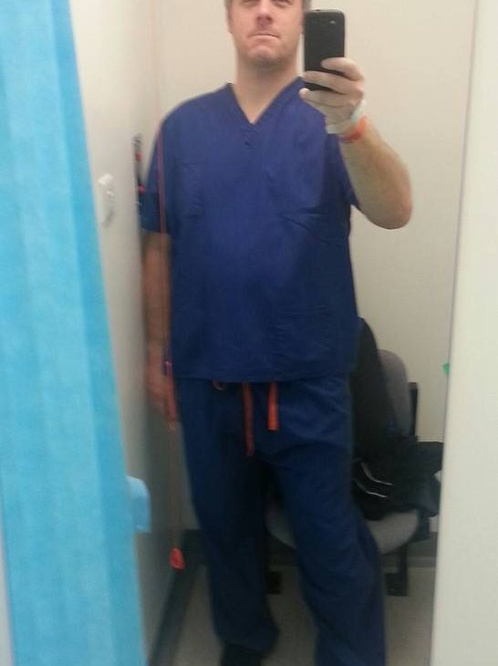 Paul before MRI scan