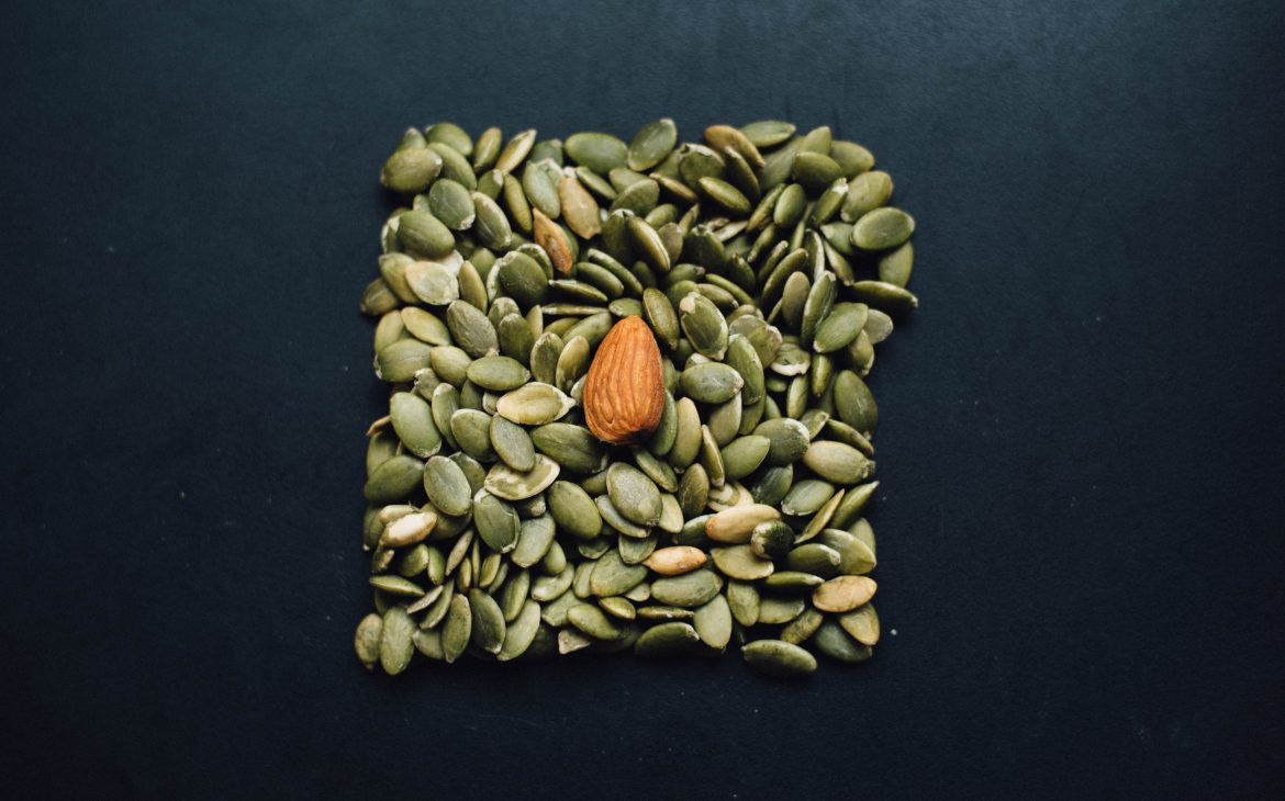 Seeds and a nut