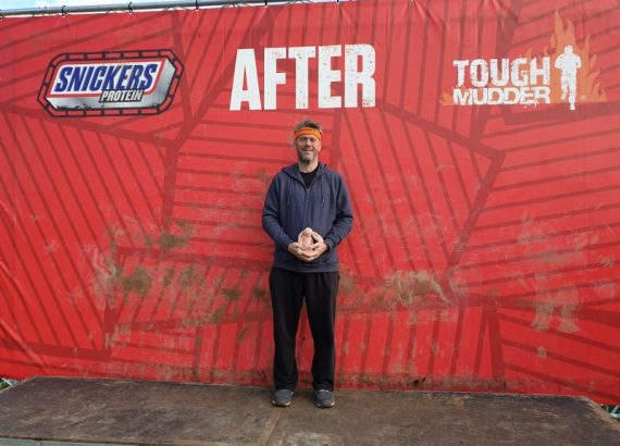 at the end of the Tough Mudder, when I weighed 15 stone.